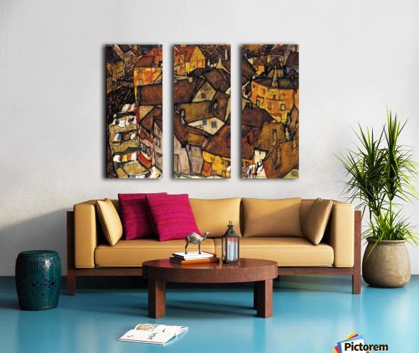 Egon Schiele - Crescent of Houses Split Canvas print
