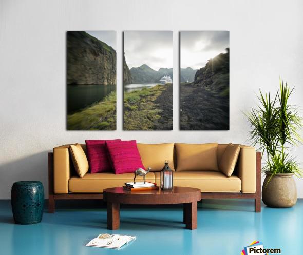 Heimaey Island Split Canvas print