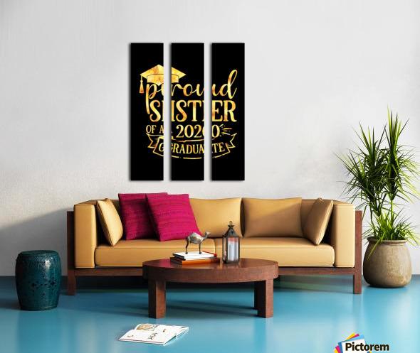 Proud SISTER of A 2020 Graduate Split Canvas print