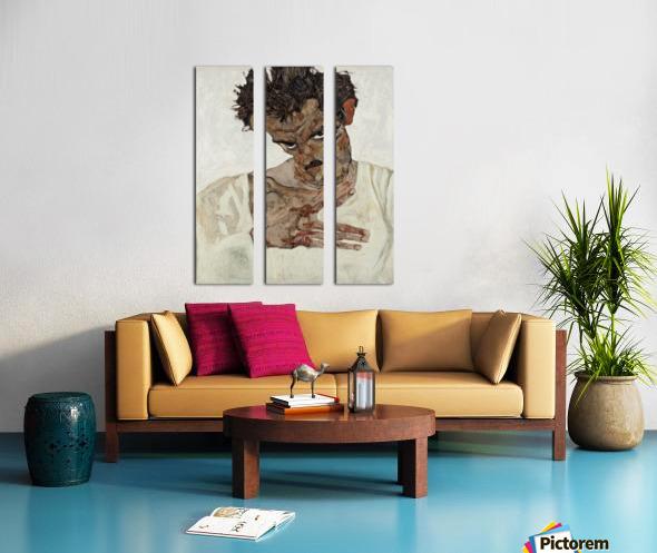 Egon Schiele - Self-Portrait Split Canvas print