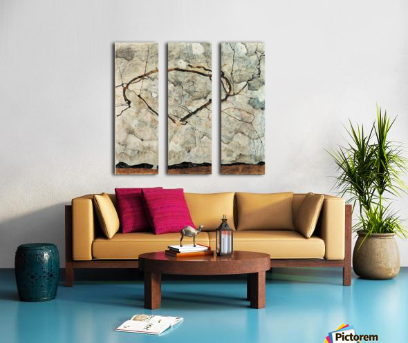 Egon Schiele - Winter Tree Split Canvas print