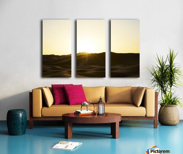 Erg Chebbi at Sunset Split Canvas print