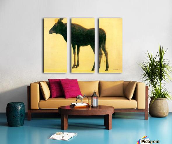 Elk by Bierstadt Split Canvas print