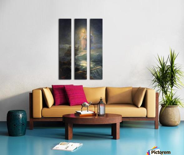Jesus walks on water Split Canvas print