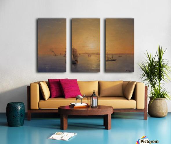 Russian Fleet at Sunset Split Canvas print