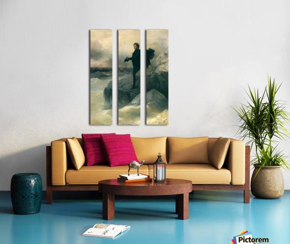 Pushkin and the sea Split Canvas print