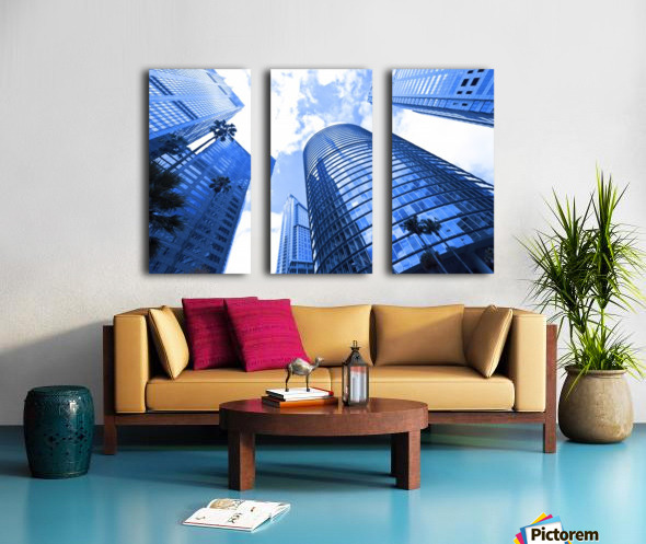 Skyscrapers reflections clouds Split Canvas print