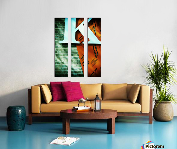 Letter K on wall Split Canvas print