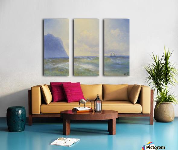 Sun on the sea Split Canvas print