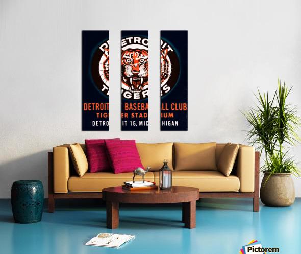 1963 Detroit Tigers Vintage Baseball Club Split Canvas print