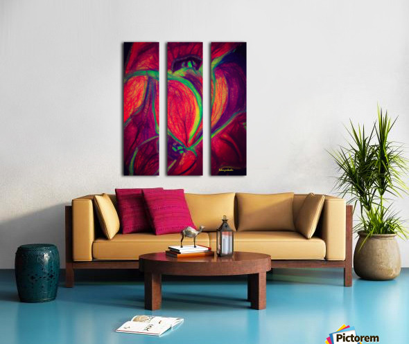 Electric Flowers Split Canvas print