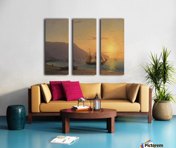 Sunset in Crimea Split Canvas print