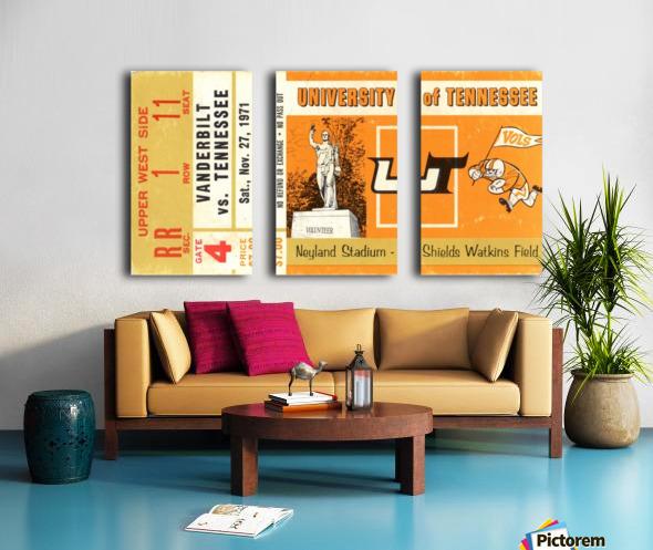 1971 Vanderbilt vs. Tennessee Split Canvas print