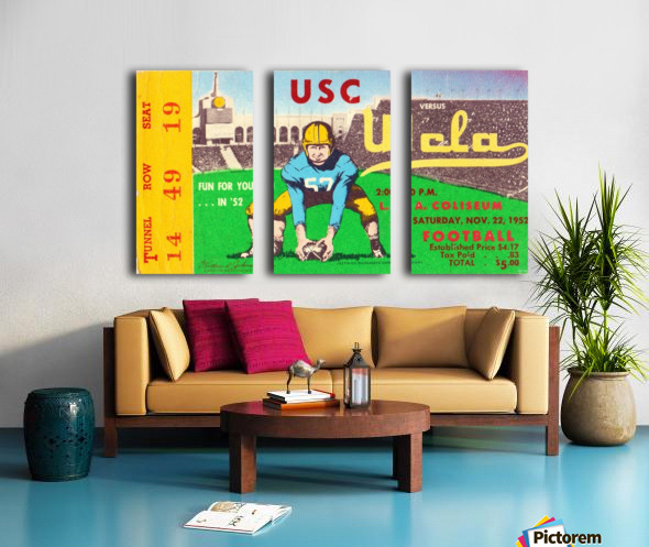 1952 USC vs. UCLA Split Canvas print