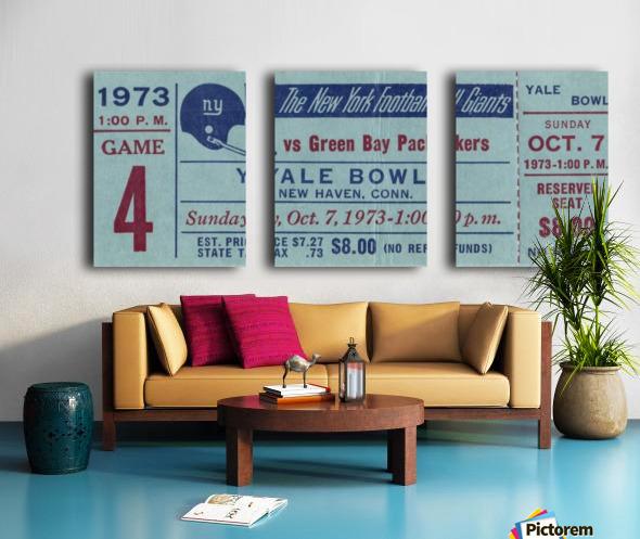 1973_National Football League_New York Giants vs. Green Bay Packers_Yale Bowl_Row One Split Canvas print