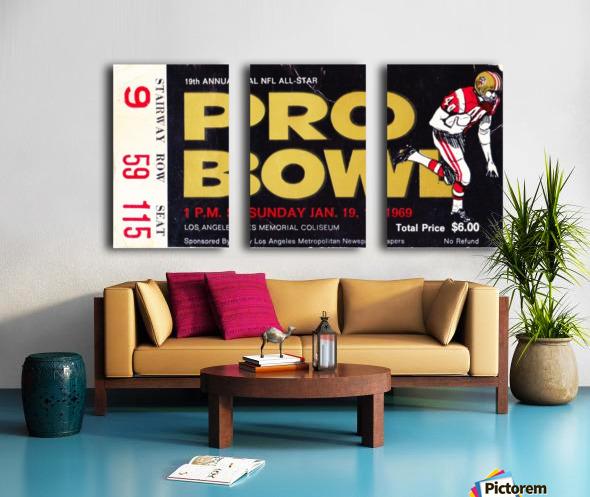 1969_National Football League_Pro Bowl_Los Angeles Coliseum_Row One Split Canvas print