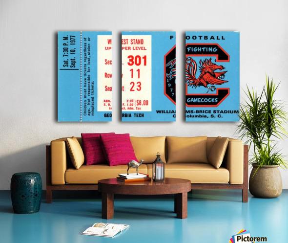 1977_College_Football_Georgia Tech vs. South Carolina_Williams Brice Stadium_Row One Brand Split Canvas print