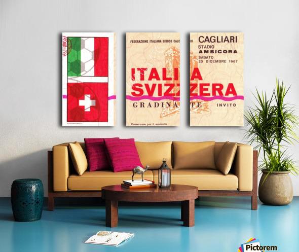 1967_Soccer_Italy vs. Switzerland_Cagliari Stadium_Row One Split Canvas print