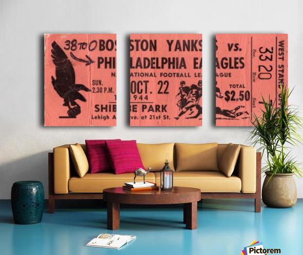 1944_National Football League_Boston Yanks vs. Philadelphia Eagles_Shibe Park_Row One Split Canvas print
