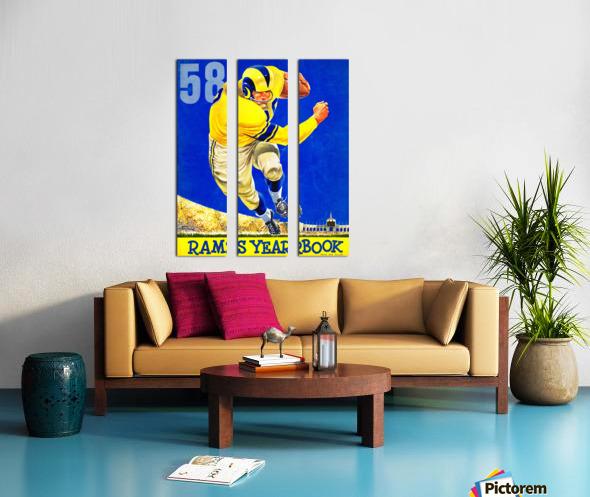 1958 LA Rams Football Yearbook Cover Art Split Canvas print