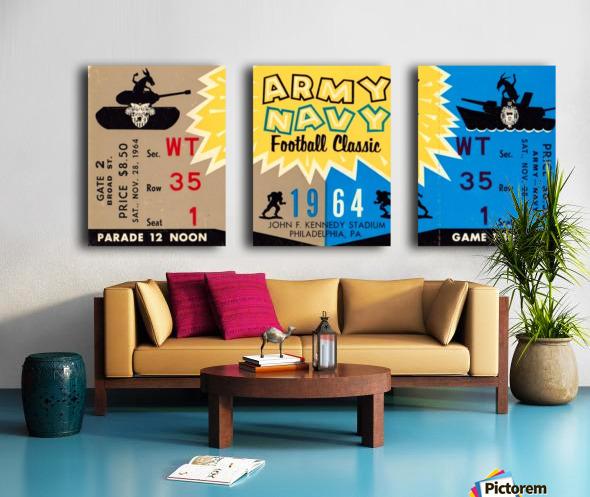 1964 Army vs. Navy Split Canvas print