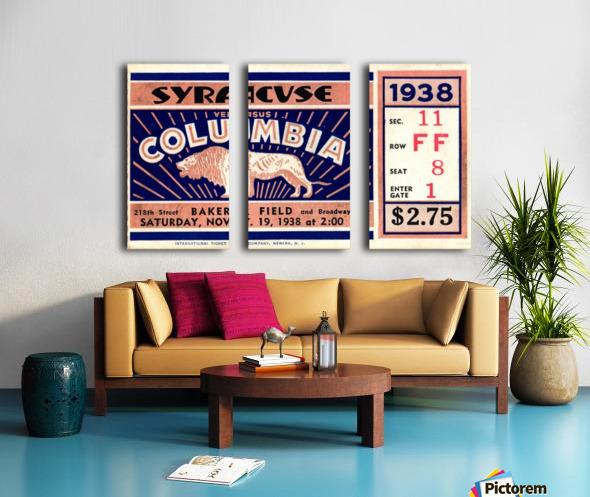 1938_College_Football_Syracuse vs. Columbia_Baker Field_New York City_Row One Brand Split Canvas print
