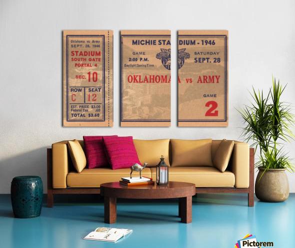 1946_College_Football_Oklahoma vs. Army_Michie Stadium_West Point_New York_Row One Brand Split Canvas print