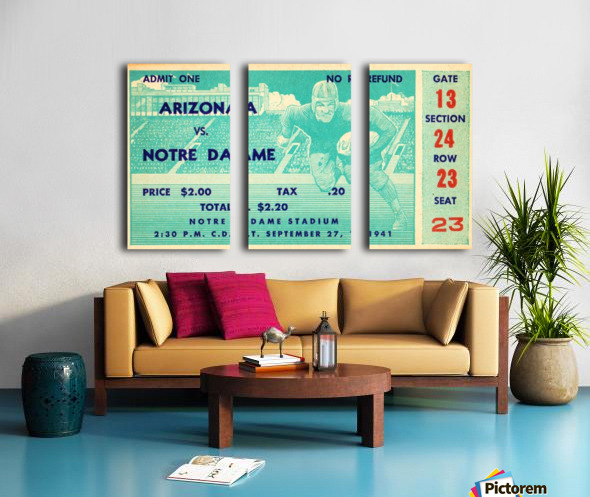 1941_College_Football_Arizona vs. Notre Dame_Notre Dame Stadium_South Bend_Row One Brand Split Canvas print