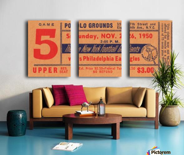 1950_National Football League_Philadelphia Eagles vs. New York Giants_Polo Grounds_NYC_Row One Brand Split Canvas print