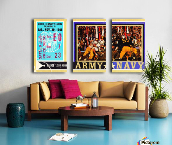 1968_College_Football_Army vs. Navy_John F. Kennedy Stadium_Philadelphia_Row One Brand Split Canvas print