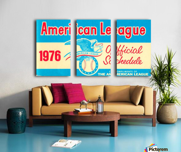 1976_Major League Baseball_American League Schedule_Row One Brand Split Canvas print