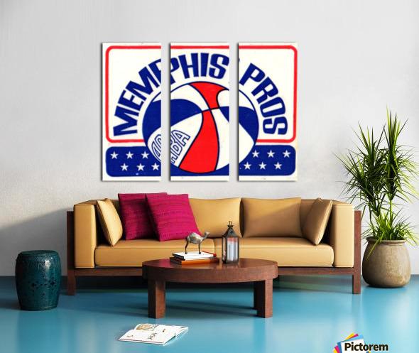 1971_American Basketball Association_Memphis Pros_Row One Brand Split Canvas print