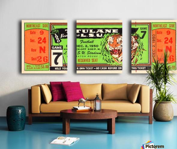 1950_College_Football_Tulane vs. LSU_Tiger Stadium_Baton Rouge_Row One Brand Split Canvas print