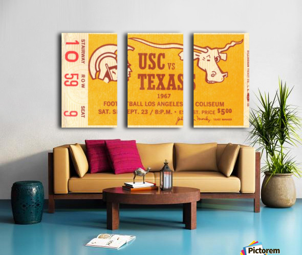 1967 USC vs. Texas  Split Canvas print
