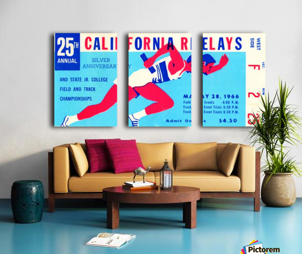 1966_Track and Field_California Relays_Row One Brand Split Canvas print