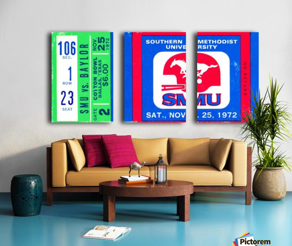 1972_College_Football_Baylor vs. SMU_Cotton Bowl Stadium_Dallas_Row One Brand Split Canvas print
