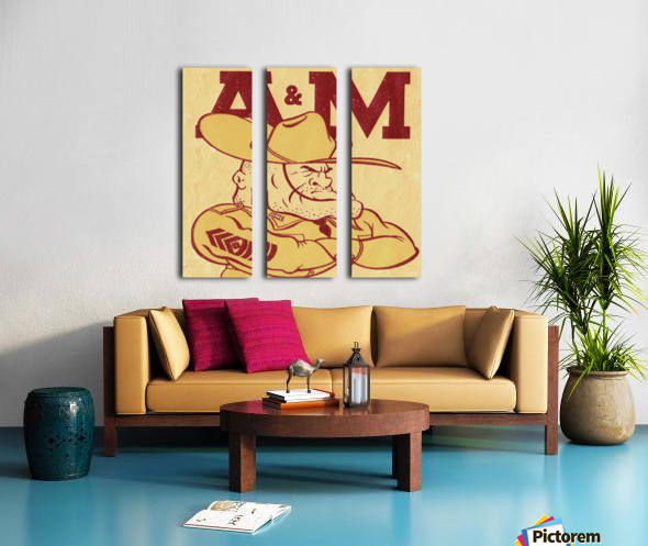 Vintage Ol Sarge 1951 Texas A&M Split Canvas print