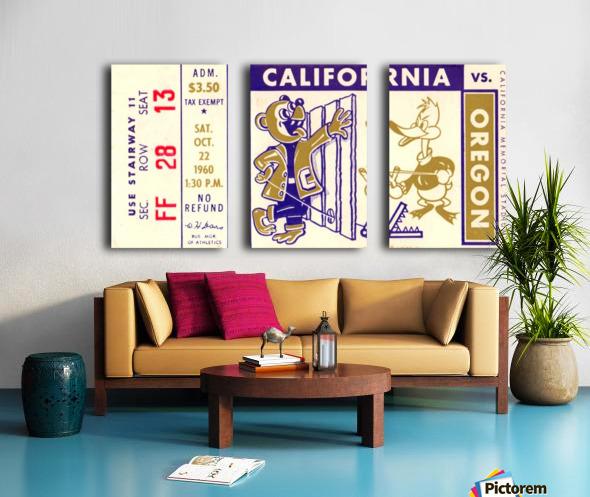 1960_College_Football_California vs. Oregon_Memorial Stadium_Row One Brand Split Canvas print