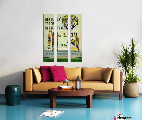 1973 Hustlin Tiger Basketball Split Canvas print