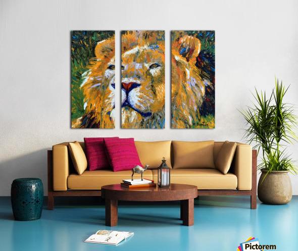 Lion Closeup Split Canvas print