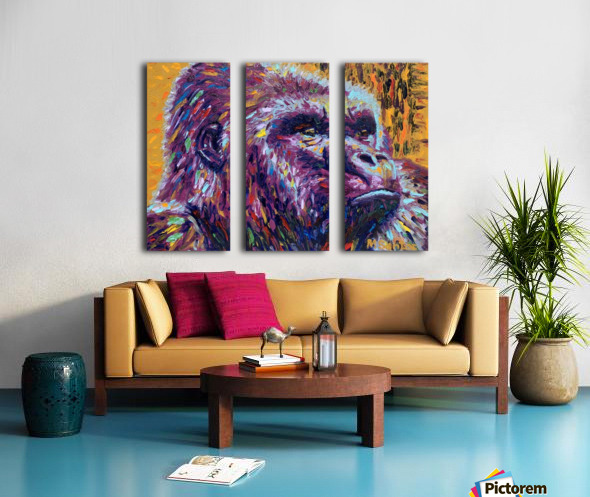 Gorilla Closeup Split Canvas print