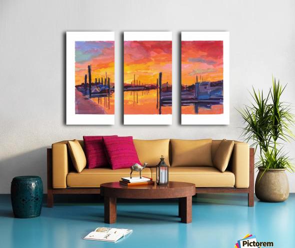 Bodega Bay Sunset Split Canvas print