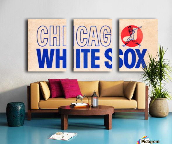 1962 Chicago White Sox Art Split Canvas print