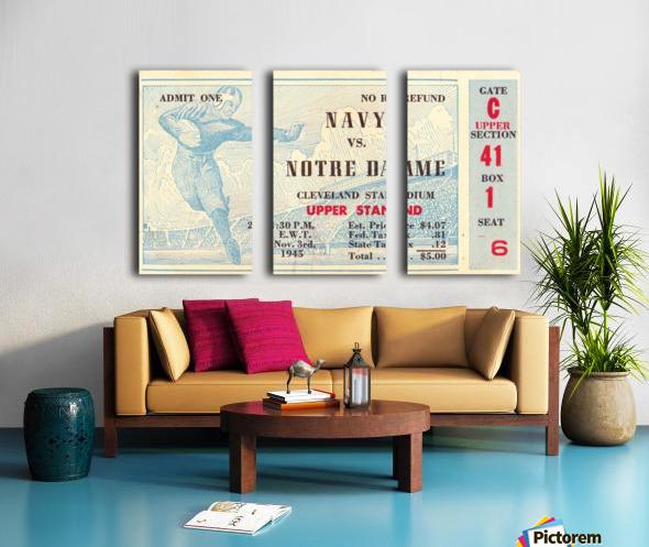 1945_College_Football_Navy vs. Notre Dame_Cleveland Stadium_Row One Brand Notre Dame Split Canvas print