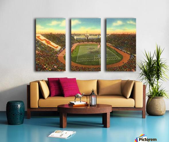 Vintage Los Angeles Coliseum USC Trojans Football Art Split Canvas print