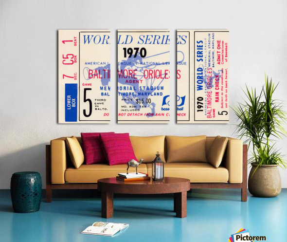 1970_Major League Baseball_World Series_Baltimore Orioles vs. Cincinnati Reds_Memorial Stadium_Row 1 Split Canvas print
