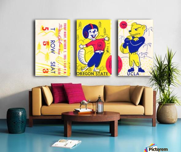 1955_College_Football_Oregon State vs. UCLA_Los Angeles Coliseum_Row One Brand Split Canvas print