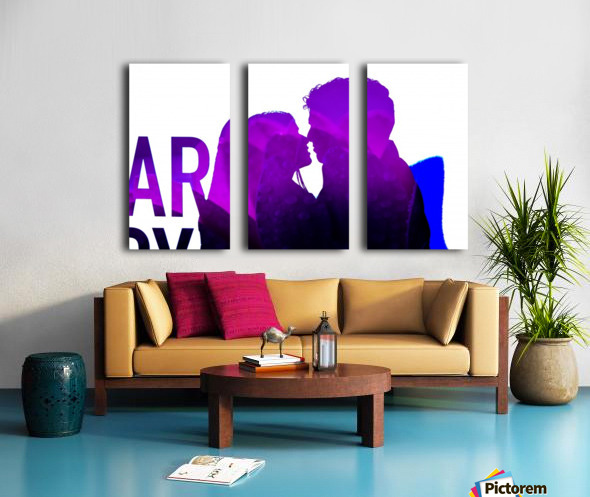 Make Love Not War Split Canvas print