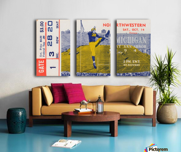 1944 Northwestern vs. Michigan Split Canvas print