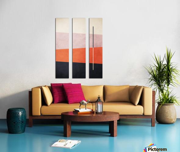 Textured Shapes 06 - Abstract Geometric Art Print Split Canvas print